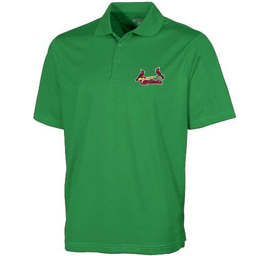 Men's Antigua Green St. Louis Cardinals Desert Dry Xtra-Lite Polo