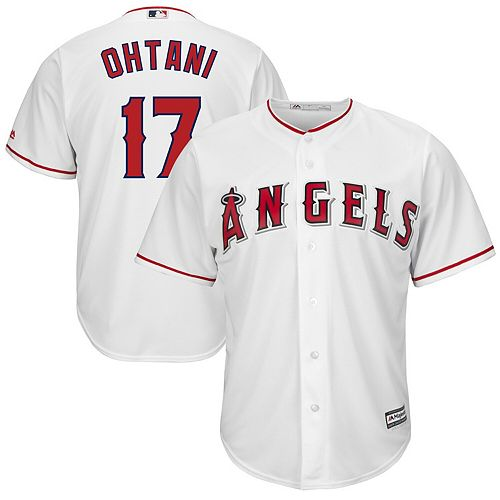 Men's Majestic Shohei Ohtani White Los Angeles Angels Big & Tall Cool Base Player Jersey