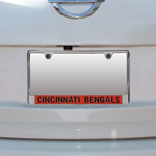 Cincinnati Bengals Mirror With Color Letters License Plate Frame