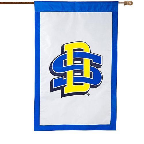 "South Dakota State Jackrabbits 28"" x 44"" Double-Sided Applique Vertical Banner Flag"
