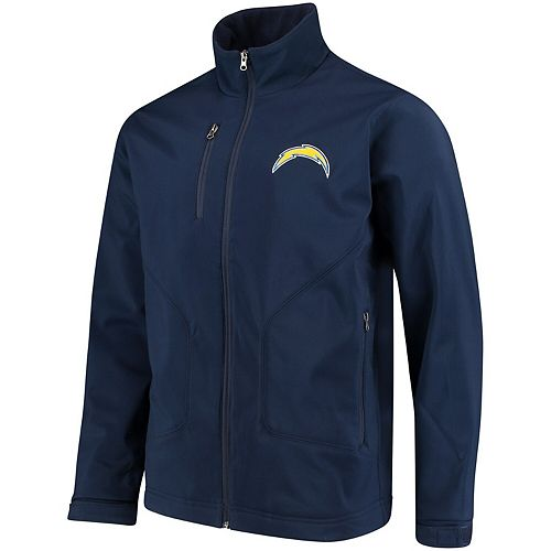 Men's Hands High Navy Los Angeles Chargers Strong Side Soft Shell Jacket