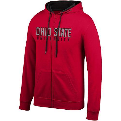 Men's Scarlet Ohio State Buckeyes Core Wordmark Full-Zip Hoodie