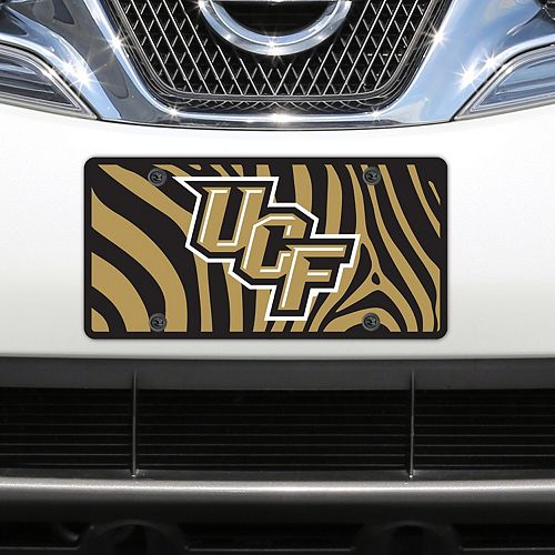 UCF Knights Zebra Acrylic Laser-Cut License Plate