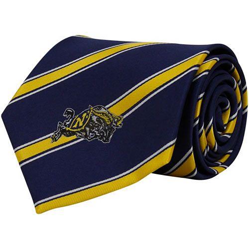 Men's Navy Midshipmen Woven Poly Tie