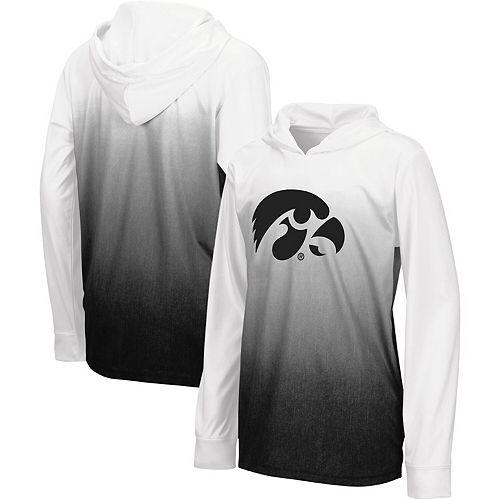 Youth Colosseum Black Iowa Hawkeyes Magic Long-Sleeve Hooded T-Shirt
