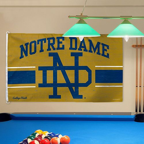 WinCraft Notre Dame Fighting Irish College Vault Gold Logo Deluxe Single-Sided 3' x 5' Flag