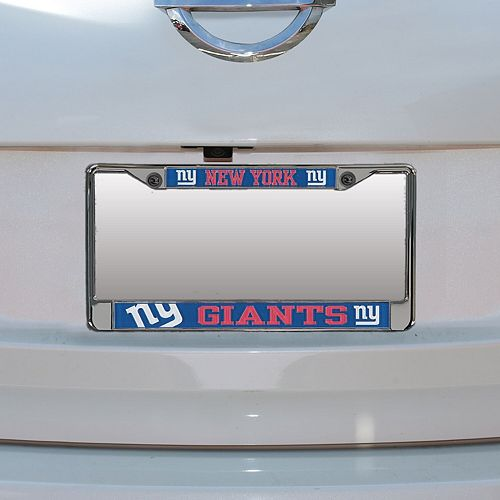 New York Giants Small Over Large Mega License Plate Frame