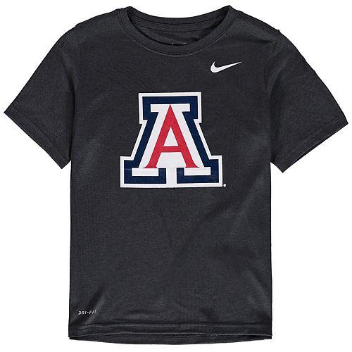 Youth Nike Anthracite Arizona Wildcats Logo Legend Performance T-Shirt