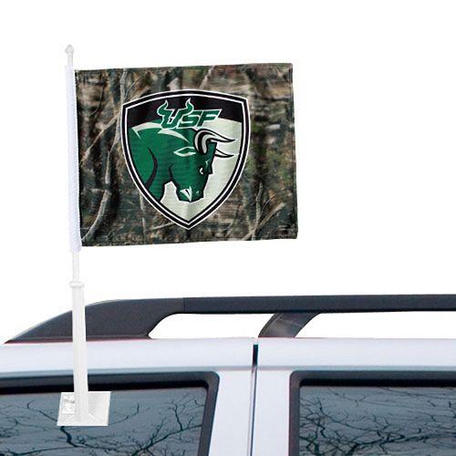 South Florida Bulls Camo Two-Sided Fashion Car Flag