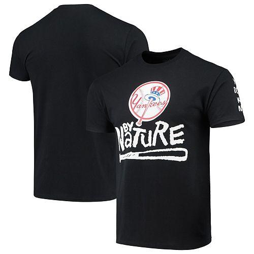 Men's Black New York Yankees Naughty by Nature Baseball T-Shirt