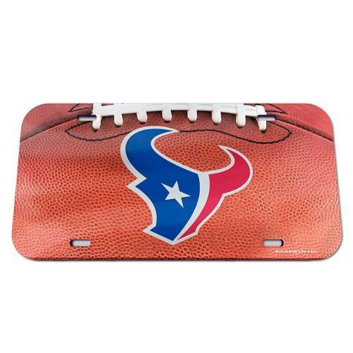 WinCraft Houston Texans Football Crystal Mirror License Plate