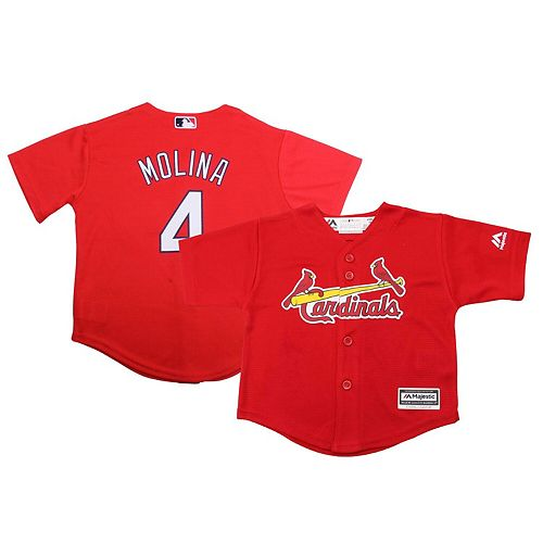 Preschool Majestic Yadier Molina Red St. Louis Cardinals Official Cool Base Player Jersey