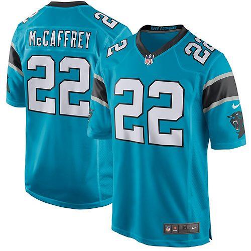 Youth Nike Christian McCaffrey Blue Carolina Panthers Game Jersey