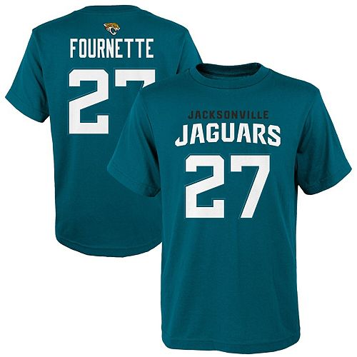 Youth Leonard Fournette Teal Jacksonville Jaguars Mainliner Player Name & Number T-Shirt