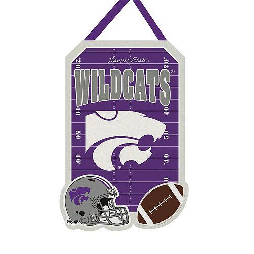 """Kansas State Wildcats 20.5"""" x 16.5"""" Felt Door Decor Wall Banner"""