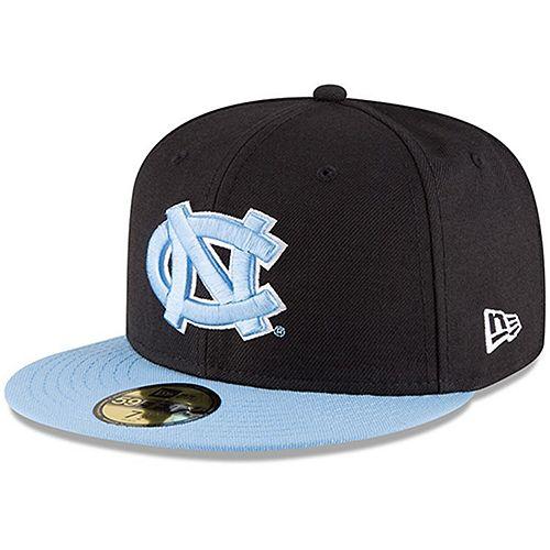 Men's New Era Black/Carolina Blue North Carolina Tar Heels Basic 59FIFTY Fitted Hat