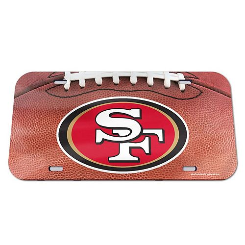 WinCraft San Francisco 49ers Football Crystal Mirror License Plate