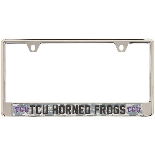 TCU Horned Frogs Digital Camo Acrylic Inlay License Plate Frame