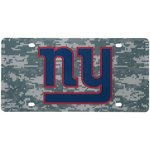 New York Giants Digi Camo Laser Cut License Plate