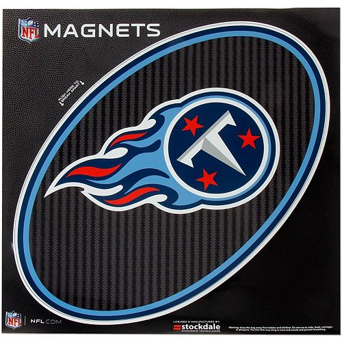 """Tennessee Titans Carbon 12"""" x 12"""" Oval Full Color Magnet"""