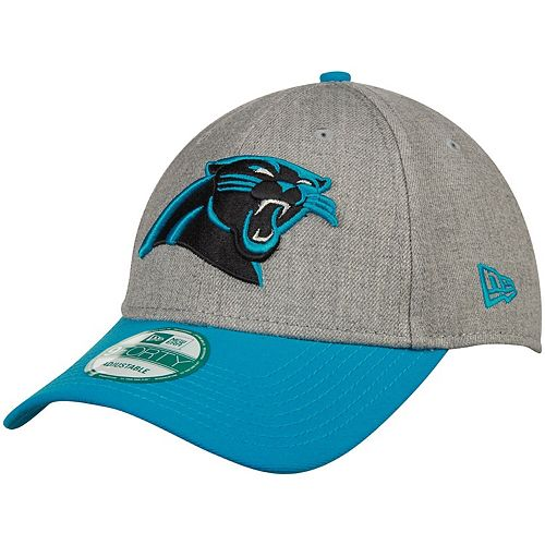 Men's New Era Heather Gray Carolina Panthers The League 9FORTY Adjustable Hat