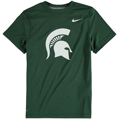 Youth Nike Hunter Green Michigan State Spartans Logo Legend Dri-FIT T-Shirt