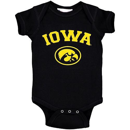 Infant Black Iowa Hawkeyes Arch & Logo Bodysuit