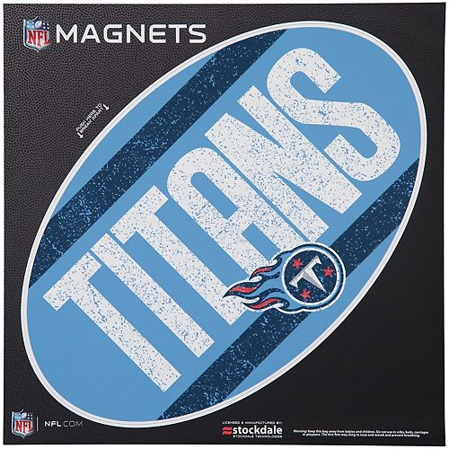 "Tennessee Titans Vintage 12"" x 12"" Oval Full Color Magnet"
