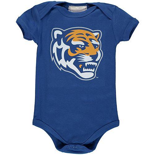 Infant Royal Memphis Tigers Big Logo Bodysuit