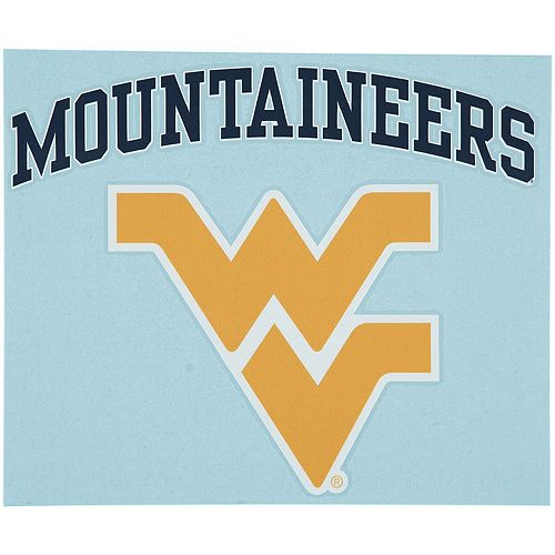 """West Virginia Mountaineers 12"""" x 12"""" Arched Logo Decal"""