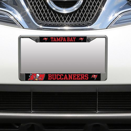 Tampa Bay Buccaneers Small Over Large Mega License Plate Frame