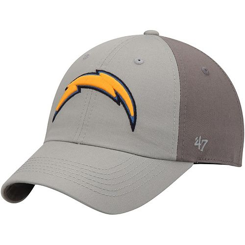 Men's '47 Gray/Dark Gray Los Angeles Chargers Northside Clean Up Adjustable Hat