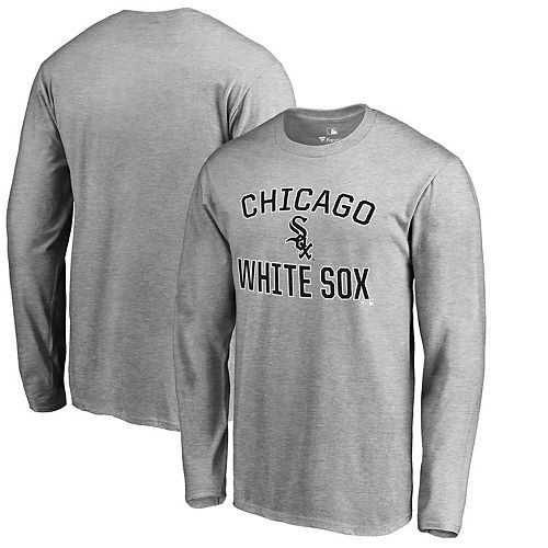 Men's Heathered Gray Chicago White Sox Victory Arch Long Sleeve T-Shirt