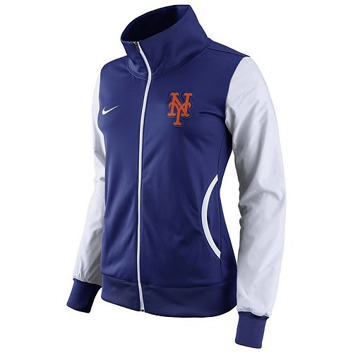 Women's Nike Royal/White New York Mets Track Jacket