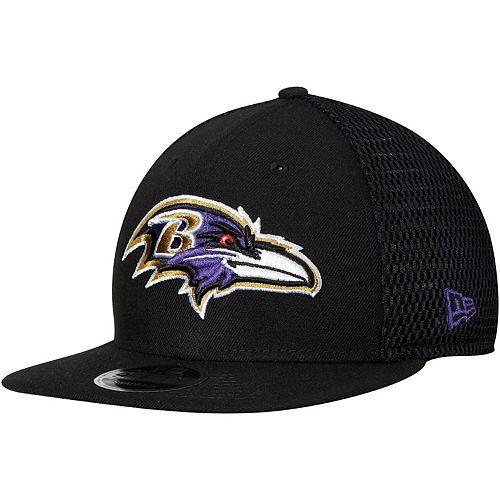 Men's New Era Black Baltimore Ravens Mesh Fresh 9FIFTY Adjustable Hat