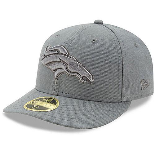 Men's New Era Denver Broncos Storm Gray League Basic Low Profile 59FIFTY Structured Hat