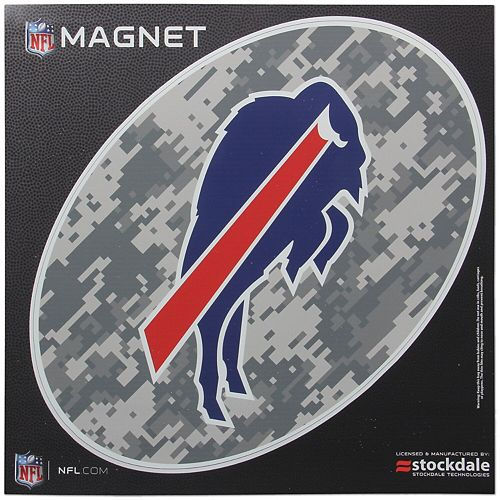 Buffalo Bills 12 x 12 Digi Camo Oval Magnet