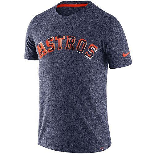Men's Nike Heathered Navy Houston Astros Marled Wordmark T-Shirt