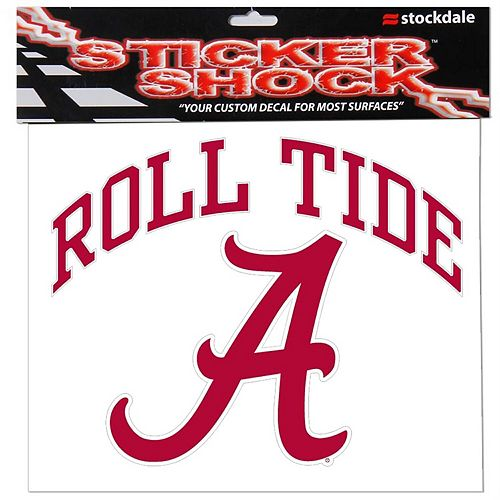 "Alabama Crimson Tide 12"" x 12"" Arched Logo Decal"