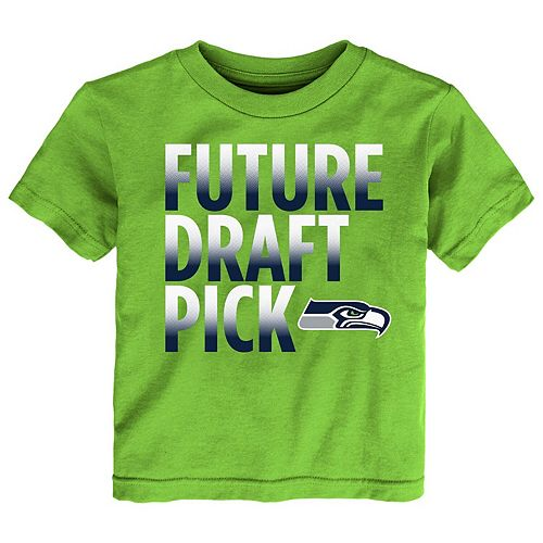 Preschool Neon Green Seattle Seahawks Future Draft Pick T-Shirt