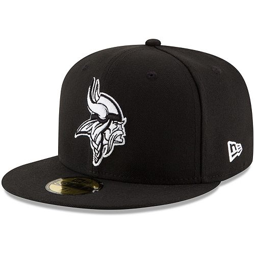 Men's New Era Black Minnesota Vikings B-Dub 59FIFTY Fitted Hat