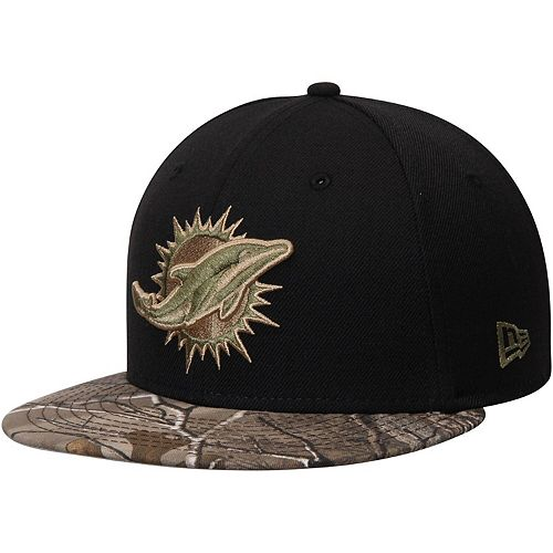 Men's New Era Black/Realtree Camo Miami Dolphins Rambo 59FIFTY Fitted Hat