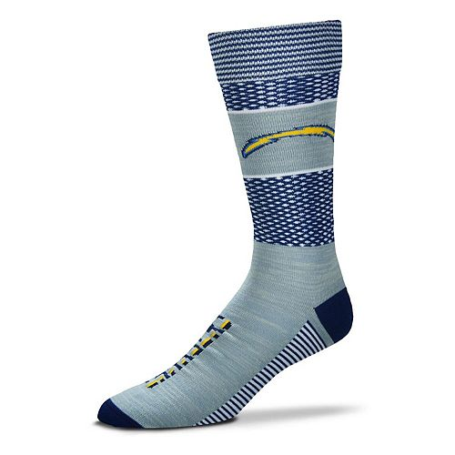 Women's For Bare Feet Los Angeles Chargers Mojo Crew Socks