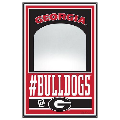 """WinCraft Georgia Bulldogs 11"""" x 17"""" Mirror Wood Sign"""