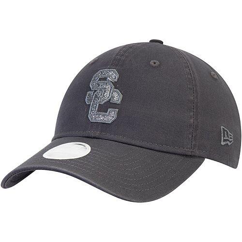 Women's New Era Graphite USC Trojans Glisten 9TWENTY Adjustable Hat