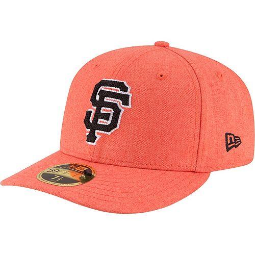 Men's New Era Heathered Orange San Francisco Giants Crisp Low Profile 59FIFTY Fitted Hat