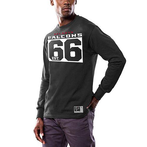 Men's Majestic Black Atlanta Falcons Favorable Result Long Sleeve T-Shirt