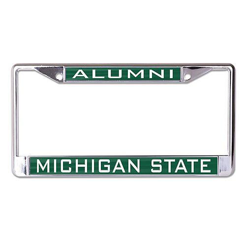 WinCraft Michigan State Spartans Alumni Inlaid Metal License Plate Frame