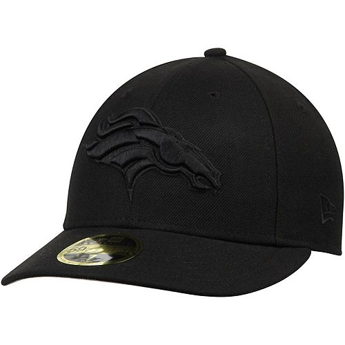 Men's New Era Denver Broncos Black on Black Low Profile 59FIFTY Fitted Hat