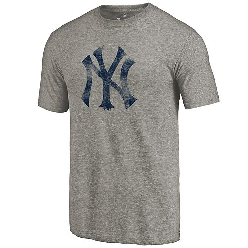 Men's Fanatics Branded Heathered Gray New York Yankees Team Tri-Blend T-Shirt